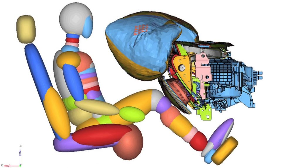 2015 Ford Mustang Active Glovebox Knee Airbag