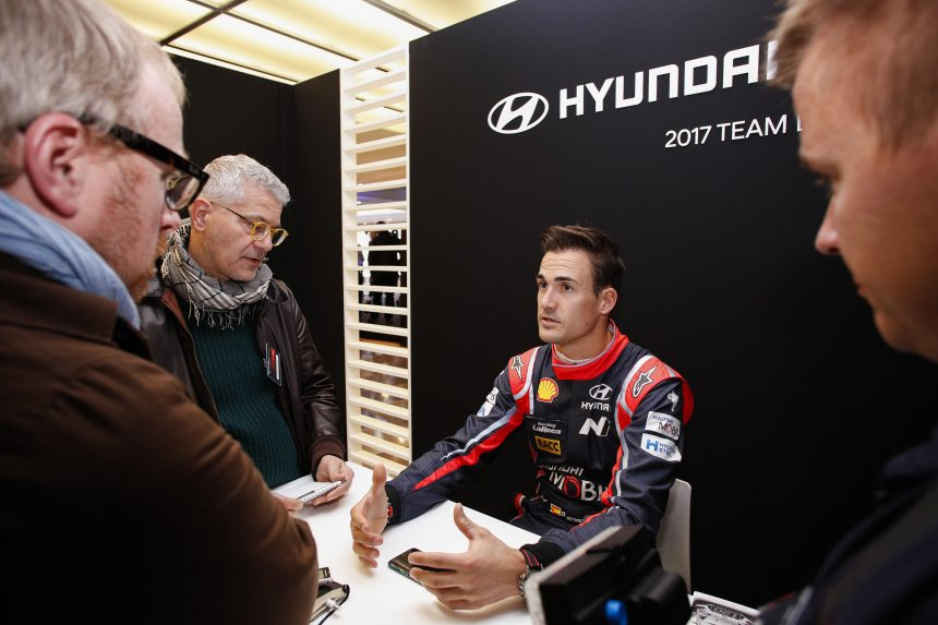 Hyundai Motorsport  2017 Team Launch  Monza, 1st December 2016 Dani Sordo Photographer: Sarah Vessely Worldwide copyright: Hyundai Motorsport GmbH